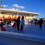 娘初のアイススケートは栃木のおやまゆうえんハーヴェストウォークで