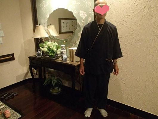 蓼科親湯温泉 館内着の作務衣