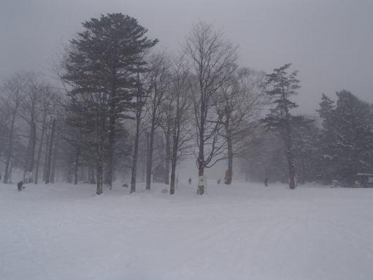 日光湯元温泉スキー場の様子