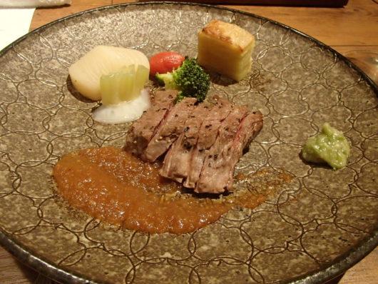 蓼科親湯温泉 夕食の肉料理
