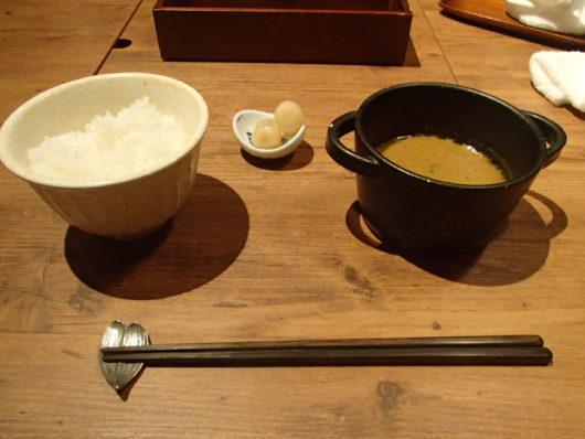 蓼科親湯温泉 夕食のご飯物 スープカレー