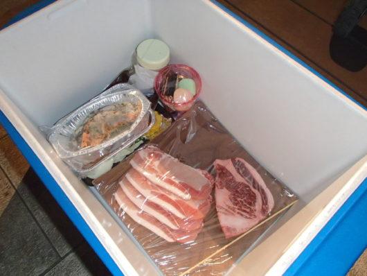 ネスタリゾート BBQの食材が部屋に届けられた