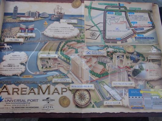 ホテルユニバーサルポート周辺地図