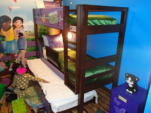 レゴランドホテル フレンズスイートルーム 二段ベッドはトランドルベッド付き