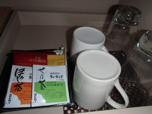 琵琶湖ホテル 客室アメニティ 無料の飲み物
