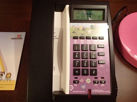 レゴランドホテル フレンズ仕様の客室電話