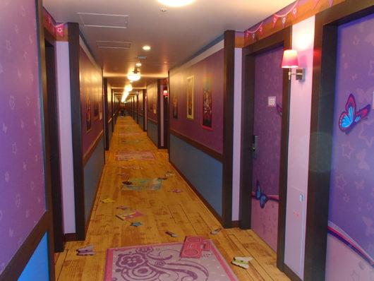 レゴランドホテル フレンズエリアの廊下