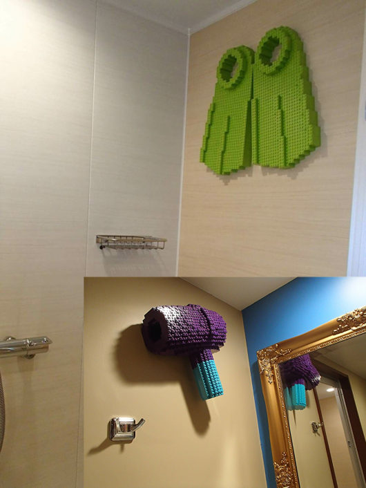 レゴランドホテル 水周りのレゴオブジェ