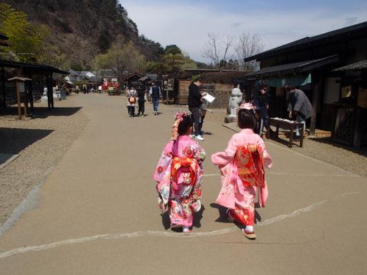 日光江戸村にて 姫様に変身して江戸村で遊ぶ