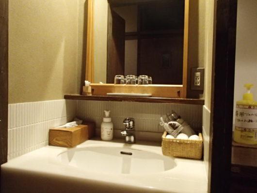 三水館 客室『休石』 洗面台