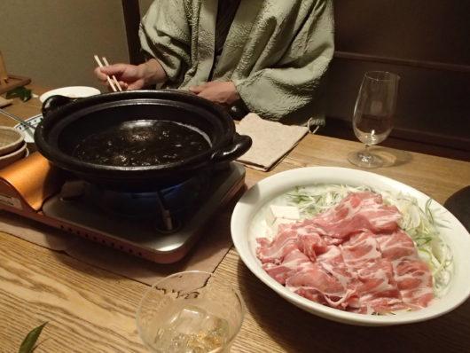 三水館の夕食 お鍋