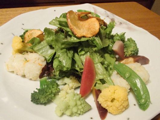 三水館の夕食 サラダ