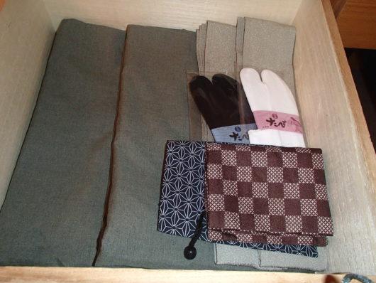 箱根・翠松園 半纏・帯・足袋・巾着袋