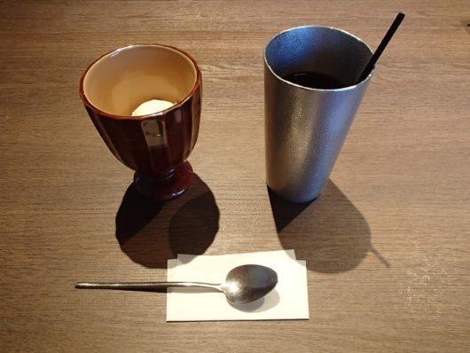 箱根・翠松園 デザートと水出しコーヒー