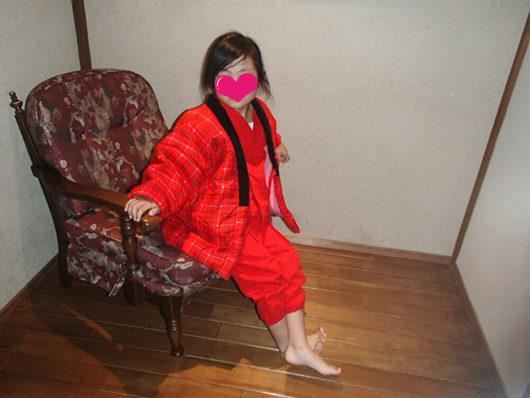 箱根・翠松園 子供用作務衣を着た娘